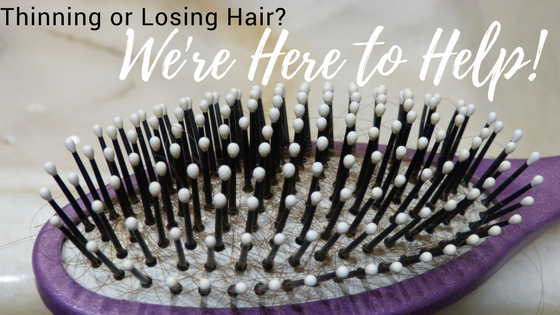 We're here to help men and women with hair thinning and hair loss.